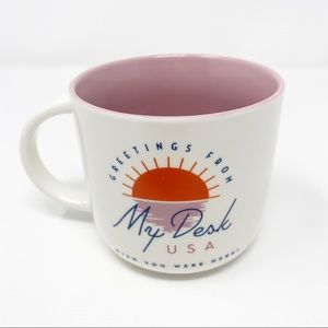 Threshold Stoneware Greetings From My Desk USA Mug